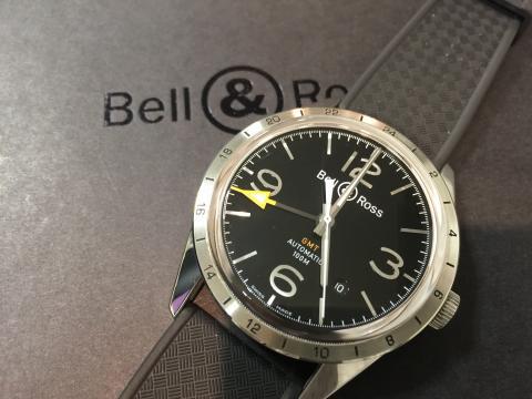 ベル&ロス Bell&Ross ヴィンテージ123 GMT BRV123-BL-GMT/SRB