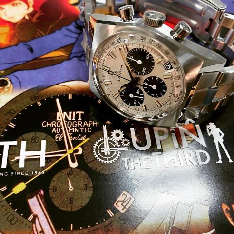 ゼニス ZENITH クロノマスター リバイバル ルパン三世-セカンドエディション 限定200本 03.L384-2.400/07.M384