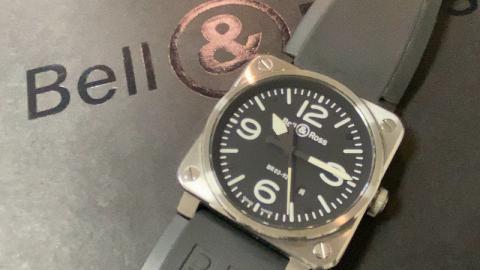 ベル&ロス Bell&Ross BR03 BR0392-BL-ST/SRB