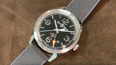 ベル&ロス Bell&Ross ヴィンテージBR123 GMT BRV123-BL-GMT/SRB