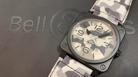 ベル&ロス Bell&Ross WHITECAMO  BR0392-CG-CE/SCA