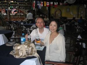 ご主人とメキシコで休暇を楽しむ直子さん