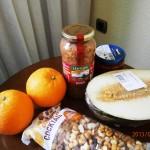 ホテルの部屋での食事