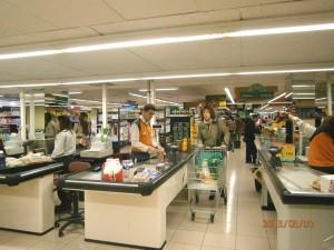 スペインのスーパーマーケットのレジはこんな感じ