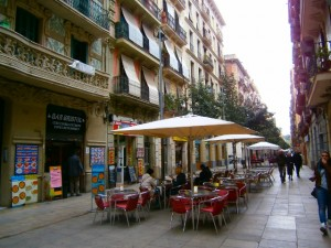 バルセロナ市内。港に近い下町