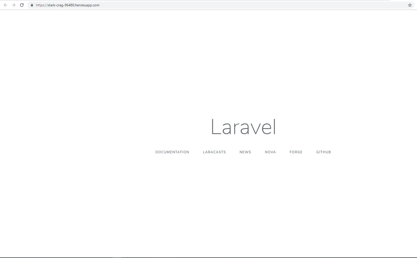 Deploy laravel app completed