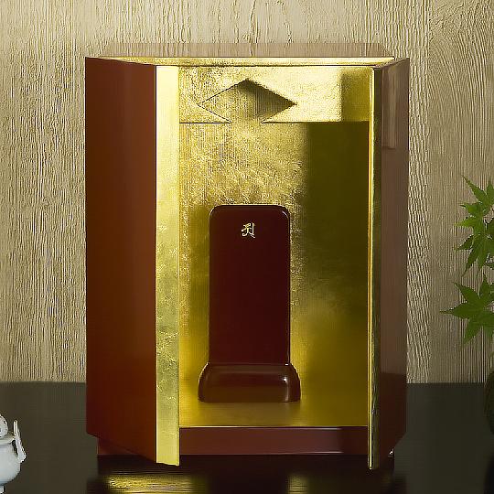 厨子仏壇 月輪(古代朱)05