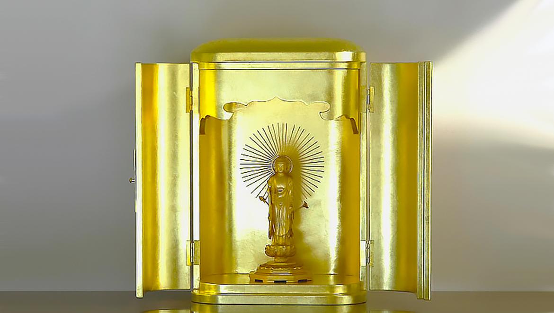 厨子仏壇「日輪(にちりん)」金箔