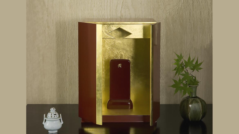 厨子仏壇「月輪(げつりん)」古代朱