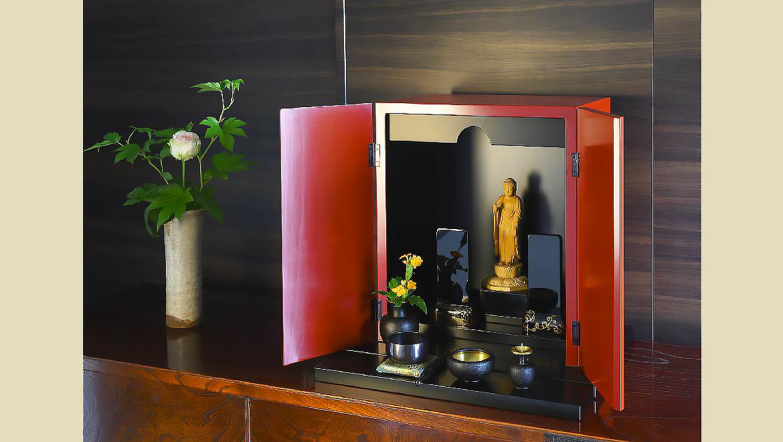 厨子仏壇「禅(ぜん)」古代朱