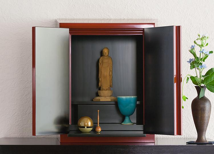 厨子仏壇「樹(じゅ)」古代朱 特徴