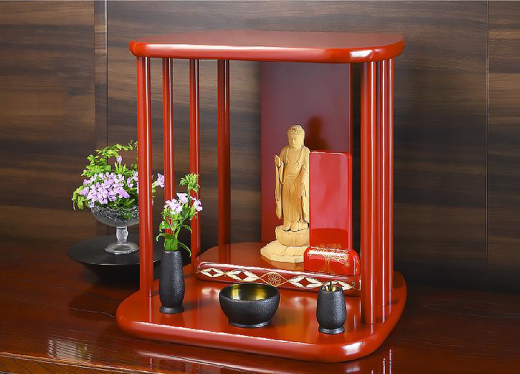 祈り壇「光り(ひかり)」古代朱 特徴