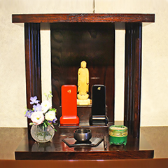 祈り壇 響き 茶拭き