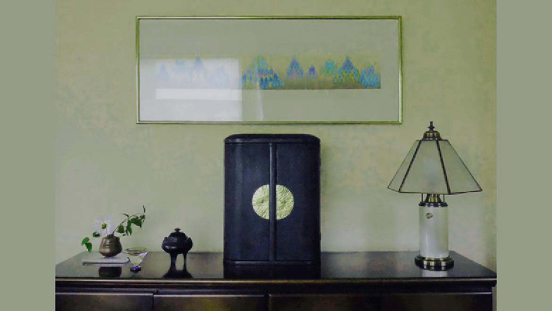 厨子仏壇「日輪(にちりん)」蒔き地漆 黒