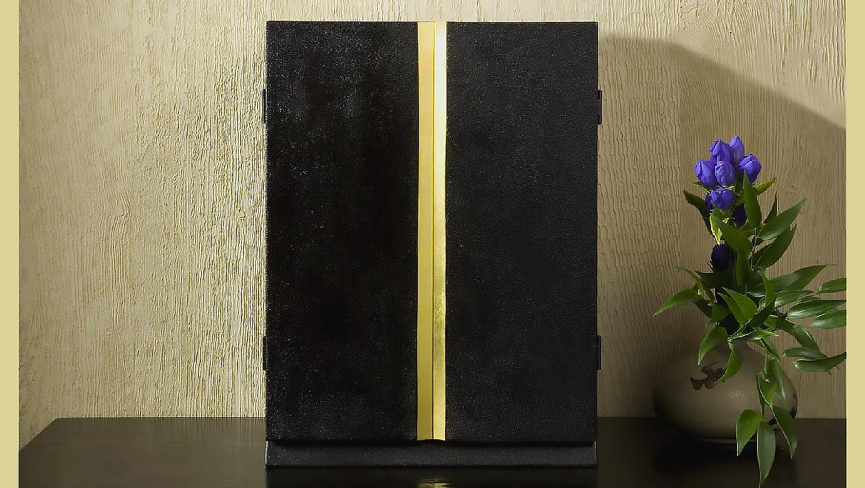 厨子仏壇「月輪(げつりん)」蒔き地漆 黒