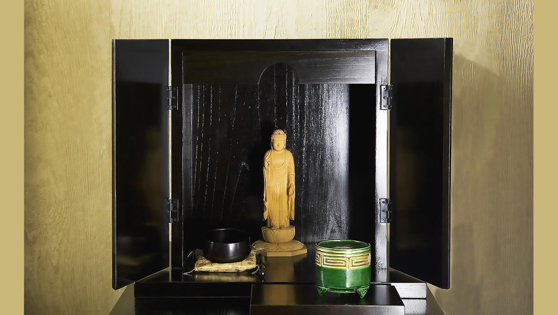 厨子仏壇「禅(ぜん)」黒拭き