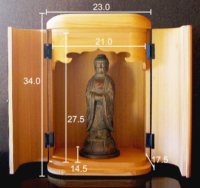 厨子仏壇「日輪(にちりん)」杉柾 白木 仏壇サイズ