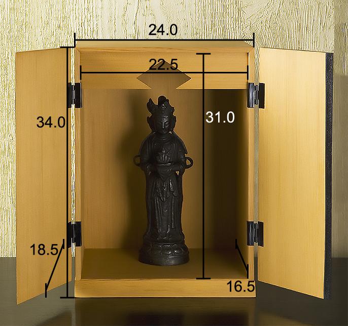 厨子仏壇「月輪(げつりん)」古代朱 仏壇サイズ