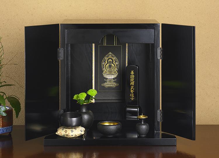 厨子仏壇「禅(ぜん)」シリーズ 黒漆