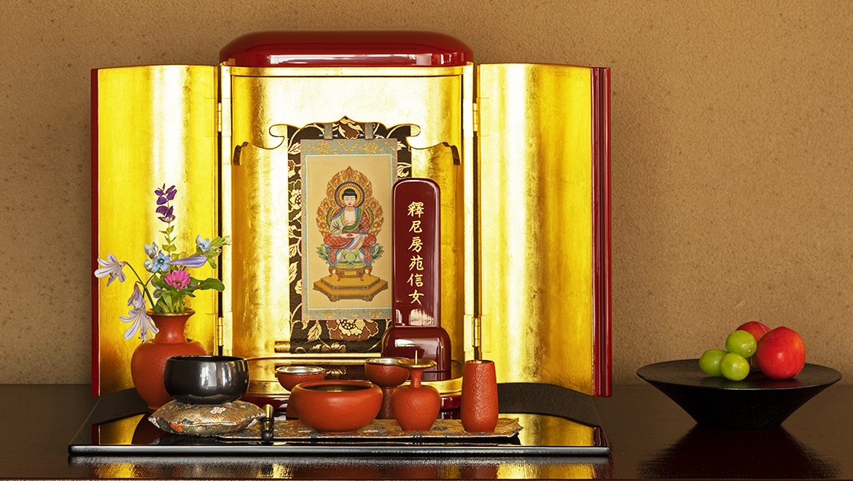 厨子仏壇「日輪(にちりん)」朱