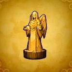 木彫りの女神像