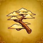 たそがれの樹木