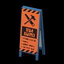 工事中につき注意
