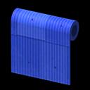 ブルーのトタンかべ
