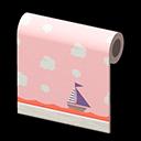 ピンクのキッズルームのかべがみ