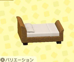 ラタンのベッド
