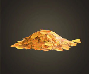 Yellow Leaf Pile