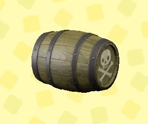 Sideways Pirate Barrel