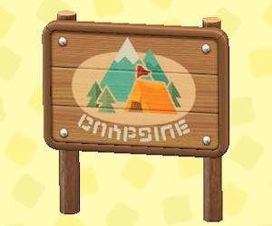 キャンプじょうのかんばん