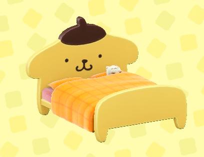 ポムポムプリンなベッド