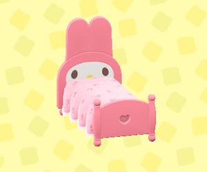 マイメロディなベッド