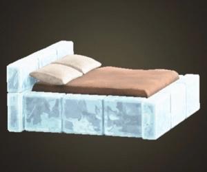 こおりのベッド