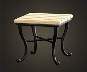 Natural square table