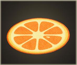 オレンジのラグ