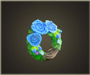 あおいバラのリース