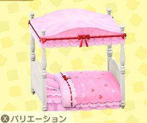 キュートなベッド