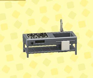 Open frame kitchen