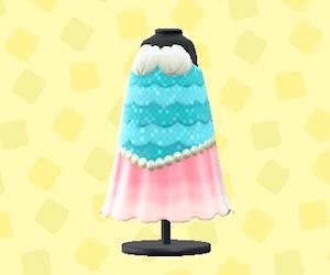 マーメイドなおさかなドレス-ピンク