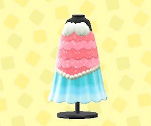 マーメイドなおさかなドレス-ライトブルー