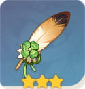幸運の鷹の羽根