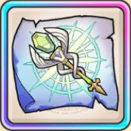 輝く祈杖の巻物のアイコン