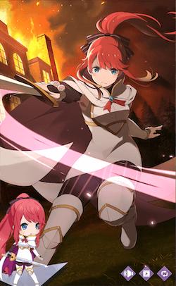 剣を握る決意テレシア