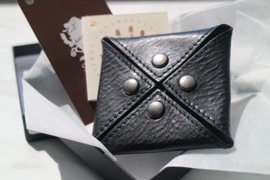 【NERO】スクエアコインケース(ブラック)