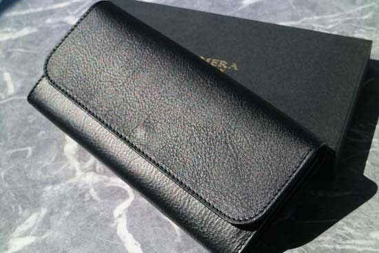 【NERO】フラップ付き長財布(ブラック)