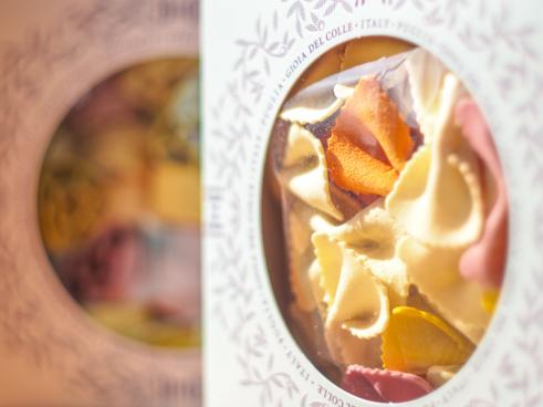 蝶とハートのこだわりパスタ麺!(スリーブタイプ)
