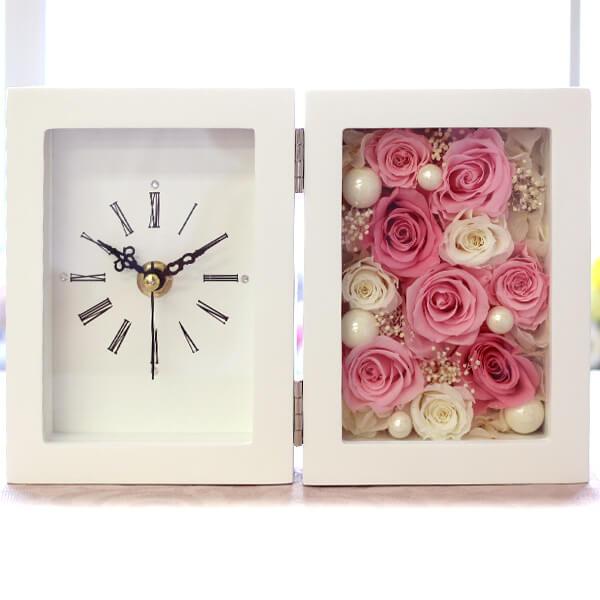 【バラの置き時計】